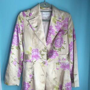 Banana Republic long Silk Floral Jacket